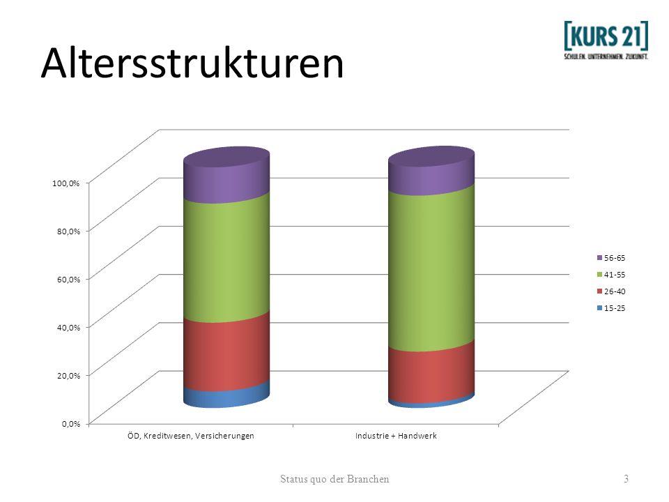 Altersstrukturen 3Status quo der Branchen