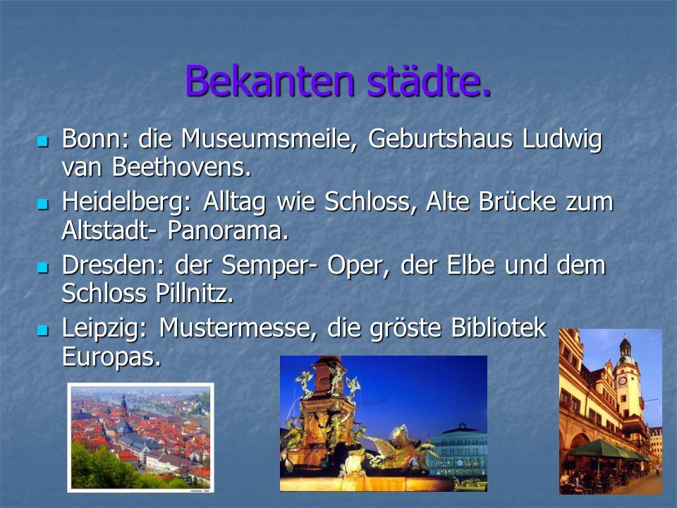 Bekanten städte. Bonn: die Museumsmeile, Geburtshaus Ludwig van Beethovens.