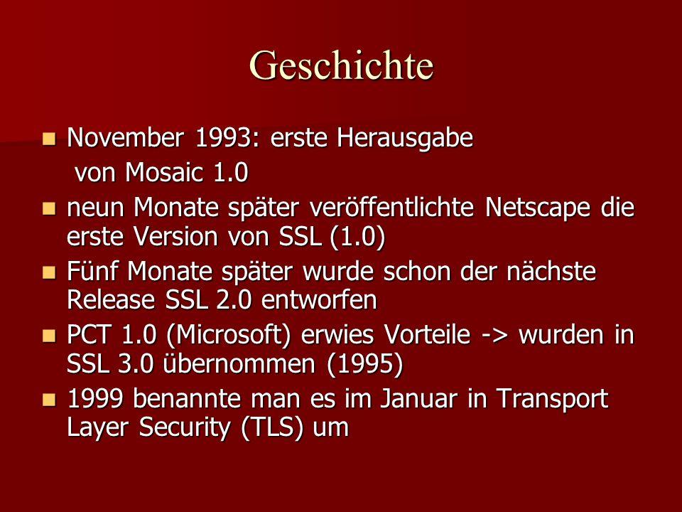 Geschichte November 1993: erste Herausgabe November 1993: erste Herausgabe von Mosaic 1.0 von Mosaic 1.0 neun Monate später veröffentlichte Netscape d