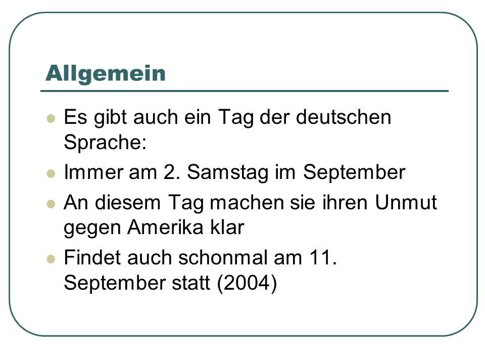 Allgemein Es gibt auch ein Tag der deutschen Sprache: Immer am 2.