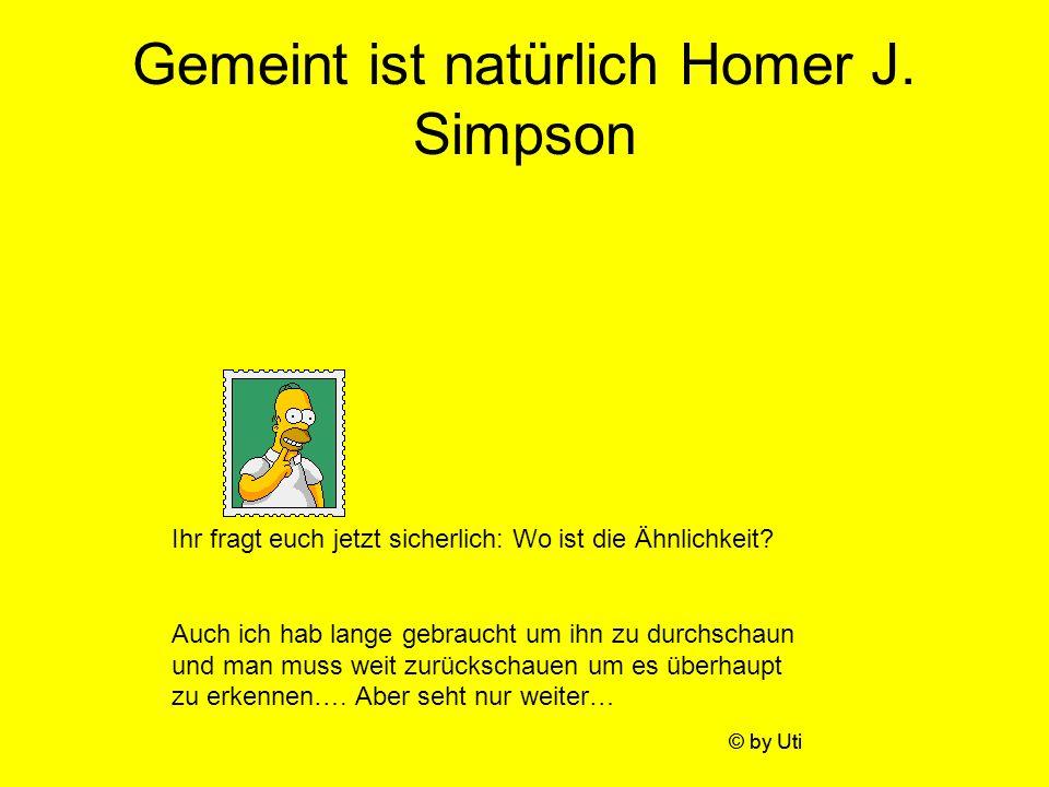 Gemeint ist natürlich Homer J. Simpson Ihr fragt euch jetzt sicherlich: Wo ist die Ähnlichkeit? Auch ich hab lange gebraucht um ihn zu durchschaun und
