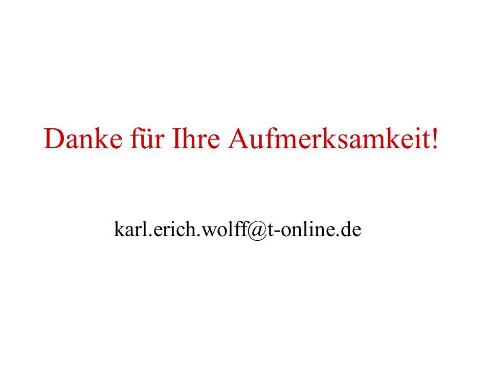 Danke für Ihre Aufmerksamkeit! karl.erich.wolff@t-online.de