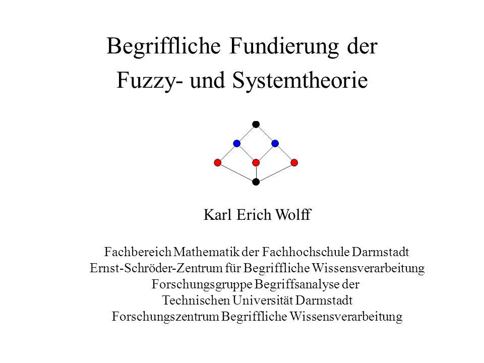 Gliederung 1 Begriffliche Wissensverarbeitung 2 Begriffliche Fundierung der Fuzzy-Theorie 3 Begriffliche Systemtheorie