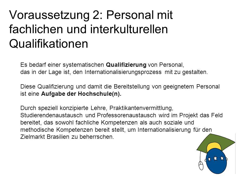 5 Voraussetzung 2: Personal mit fachlichen und interkulturellen Qualifikationen Es bedarf einer systematischen Qualifizierung von Personal, das in der Lage ist, den Internationalisierungsprozess mit zu gestalten.
