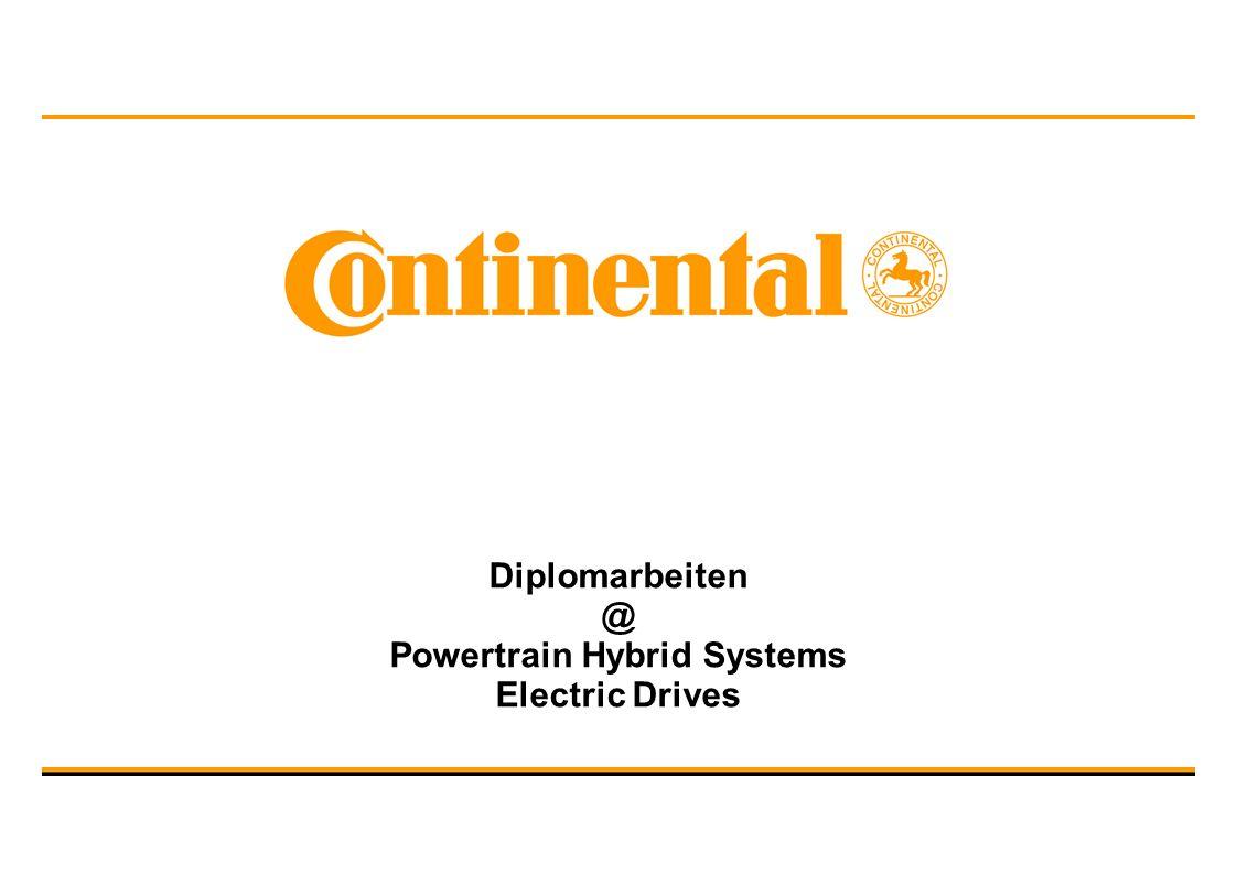 Diplomarbeiten @ Powertrain Hybrid Systems Electric Drives