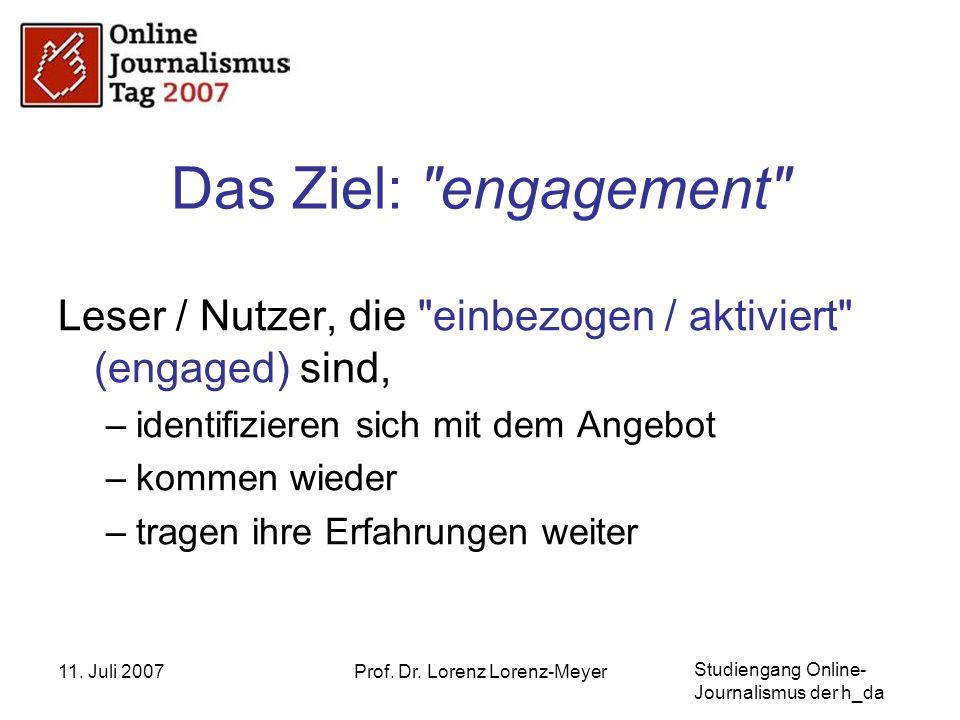 Studiengang Online- Journalismus der h_da 11.Juli 2007Prof.