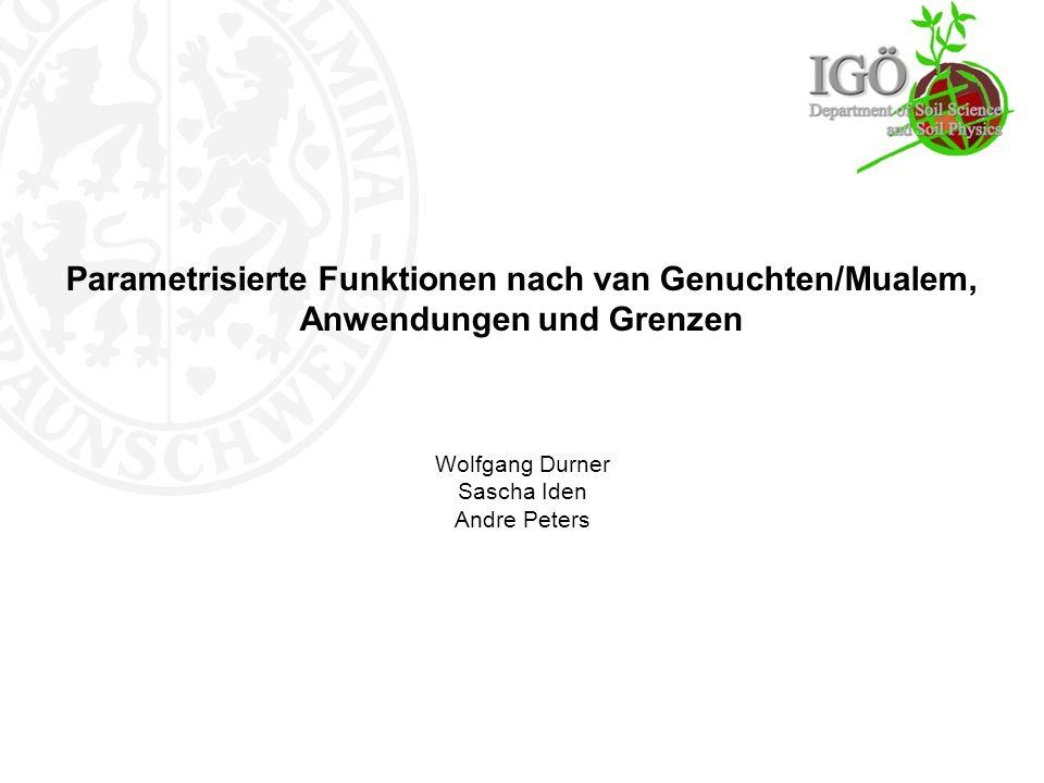Der Begriff VGM - Modell.Geringe Wichtung der Ausflussdaten ( = 0.04) Schwächen II.