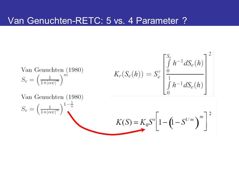Van Genuchten-RETC: 5 vs. 4 Parameter ?
