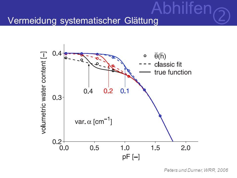 Peters und Durner, WRR, 2006 Abhilfen Vermeidung systematischer Glättung