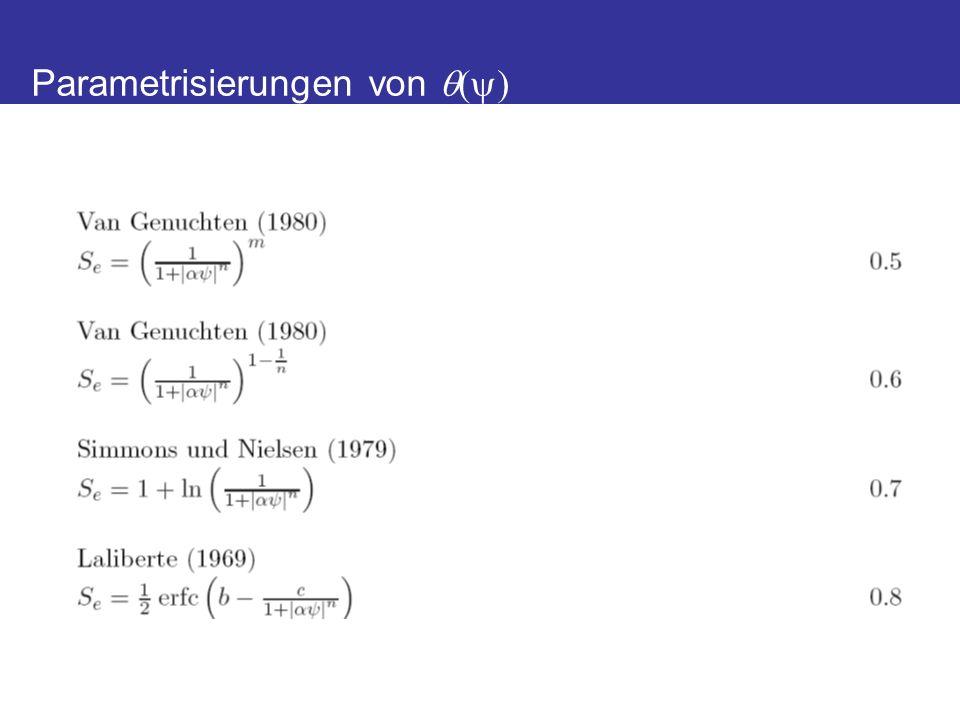 Bimodale K-Vorhersage Priesack und Durner, VZJ, 2006 Abhilfen