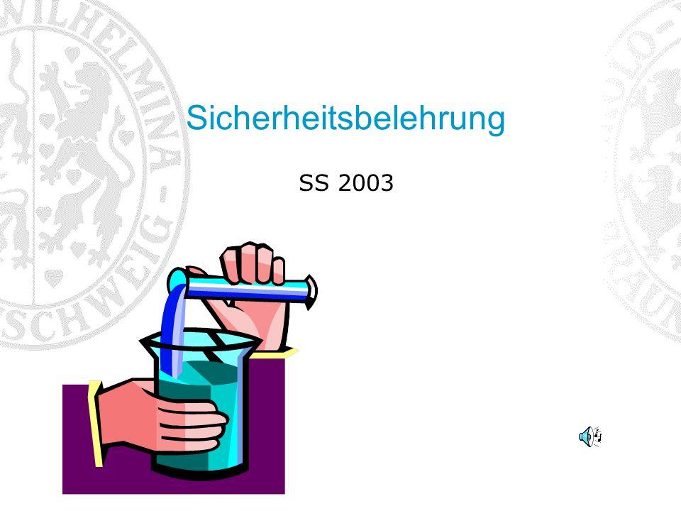 Sicherheitsbelehrung SS 2003