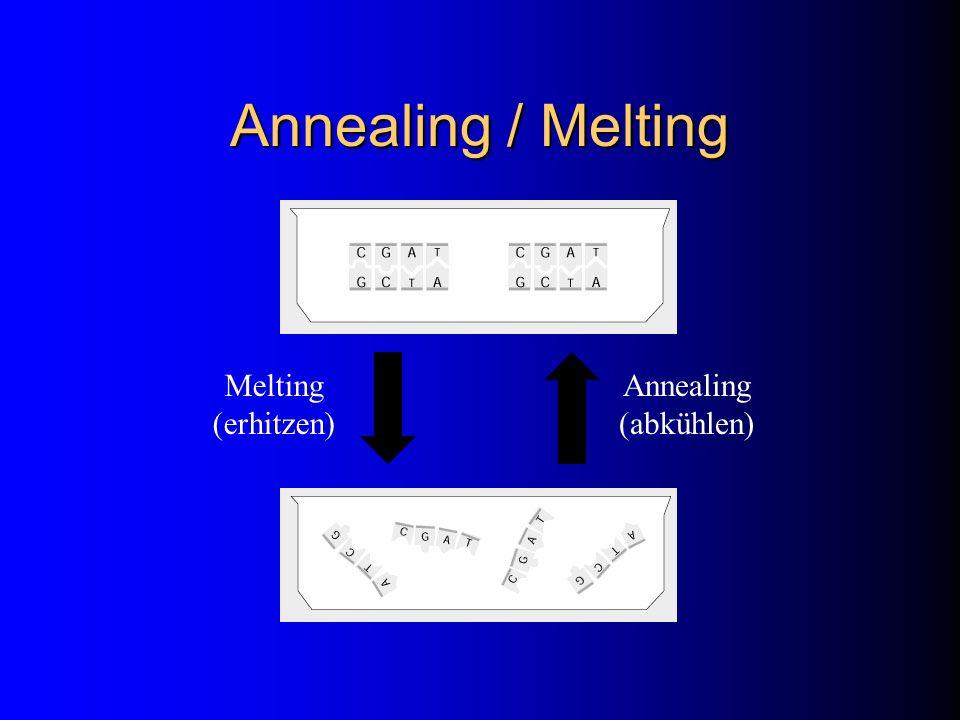 Annealing / Melting Melting (erhitzen) Annealing (abkühlen)