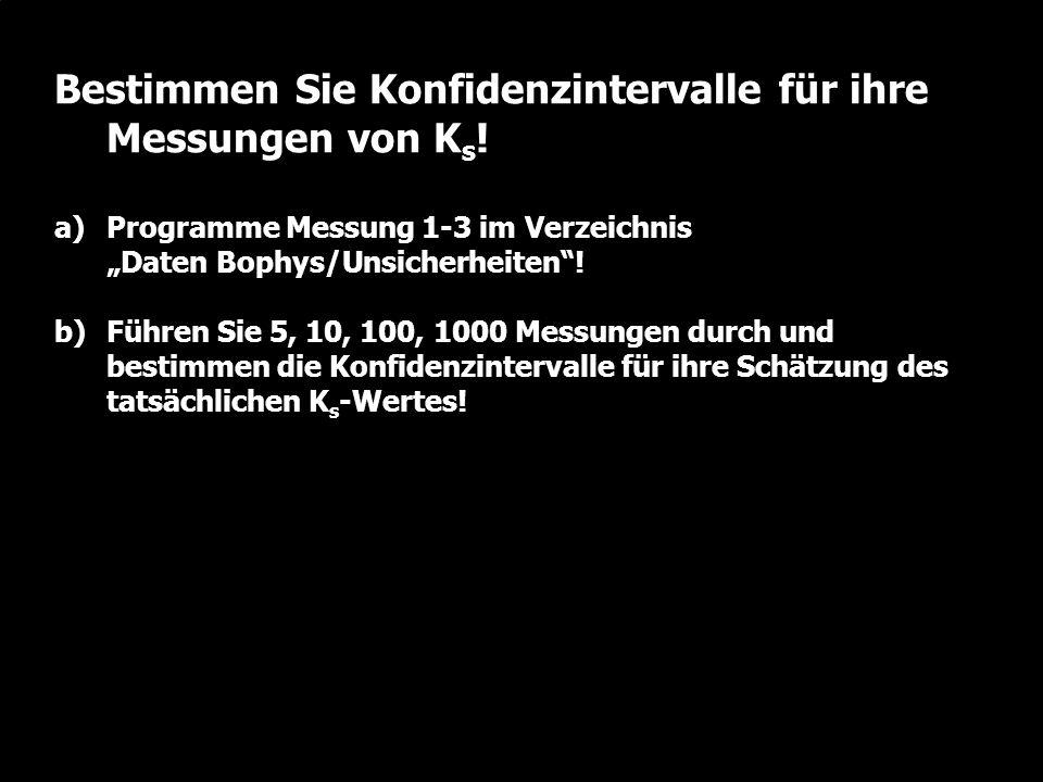 W. Durner und S.C. Iden: Unsicherheiten in der Ökosystemmodellierung, SS2012 Folie 2.42 Bestimmen Sie Konfidenzintervalle für ihre Messungen von K s !