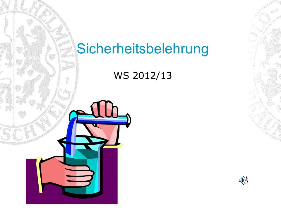 Sicherheitsbelehrung WS 2012/13