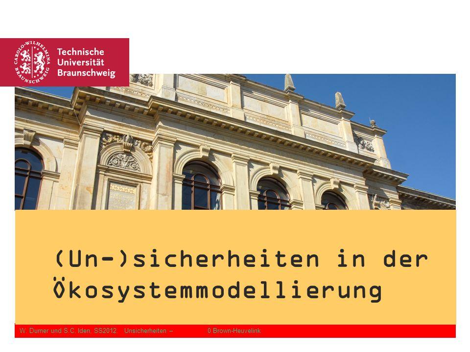 W. Durner und S.C. Iden: Unsicherheiten in der Ökosystemmodellierung, SS2012 Folie 0.2