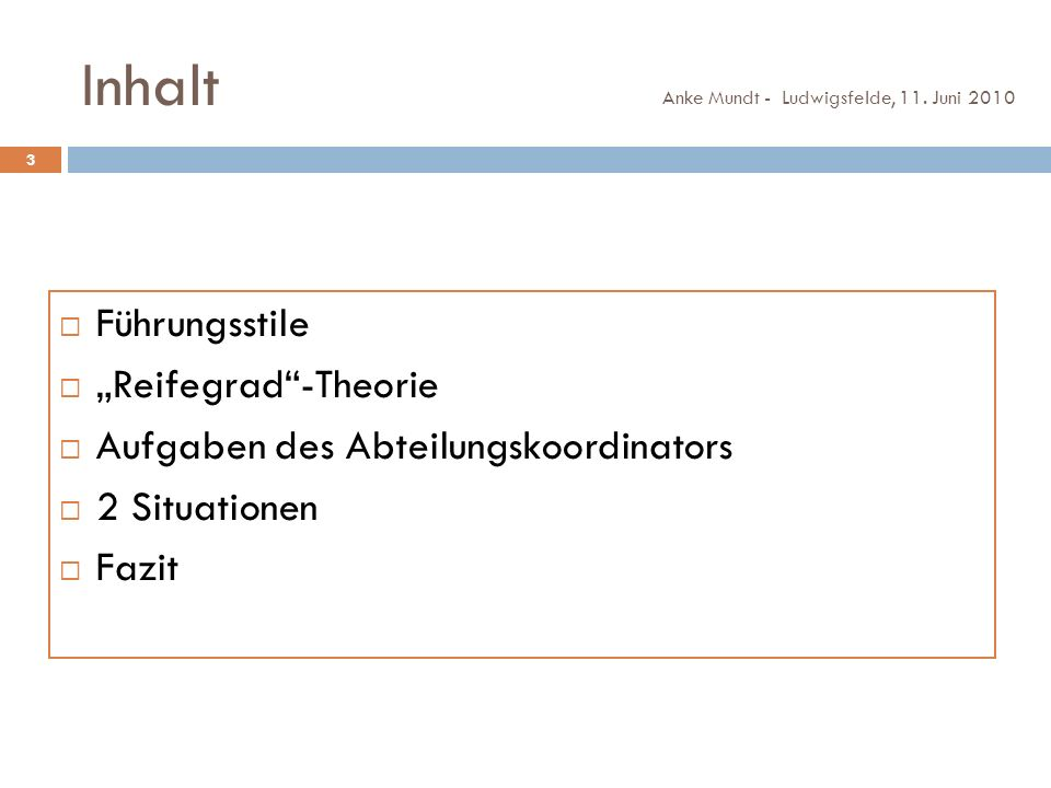 Führungsstile Anke Mundt - Ludwigsfelde, 11.