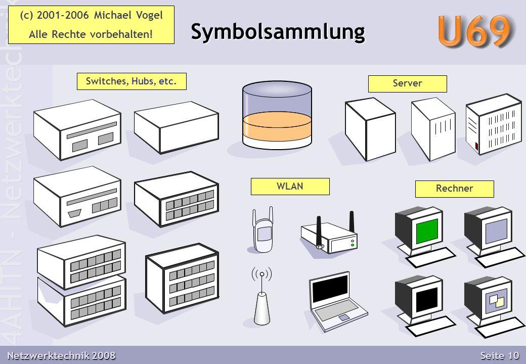4AHITN - Netzwerktechnik Netzwerktechnik 2008 Seite 10 Symbolsammlung Symbolsammlung Switches, Hubs, etc.
