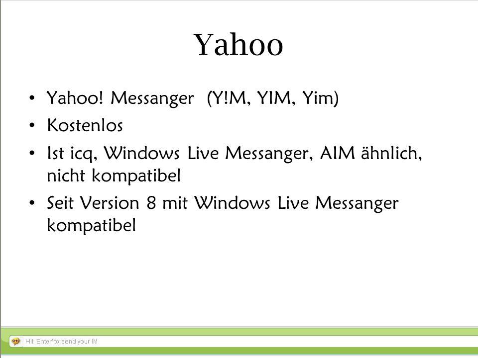 Yahoo Yahoo.