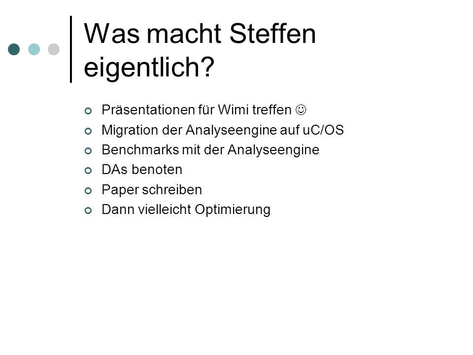 Was macht Steffen eigentlich.