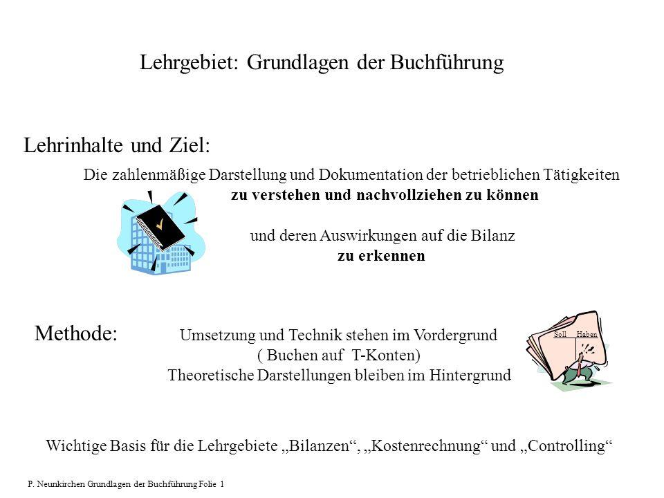 Lehrgebiet: Grundlagen der Buchführung Die zahlenmäßige Darstellung und Dokumentation der betrieblichen Tätigkeiten zu verstehen und nachvollziehen zu