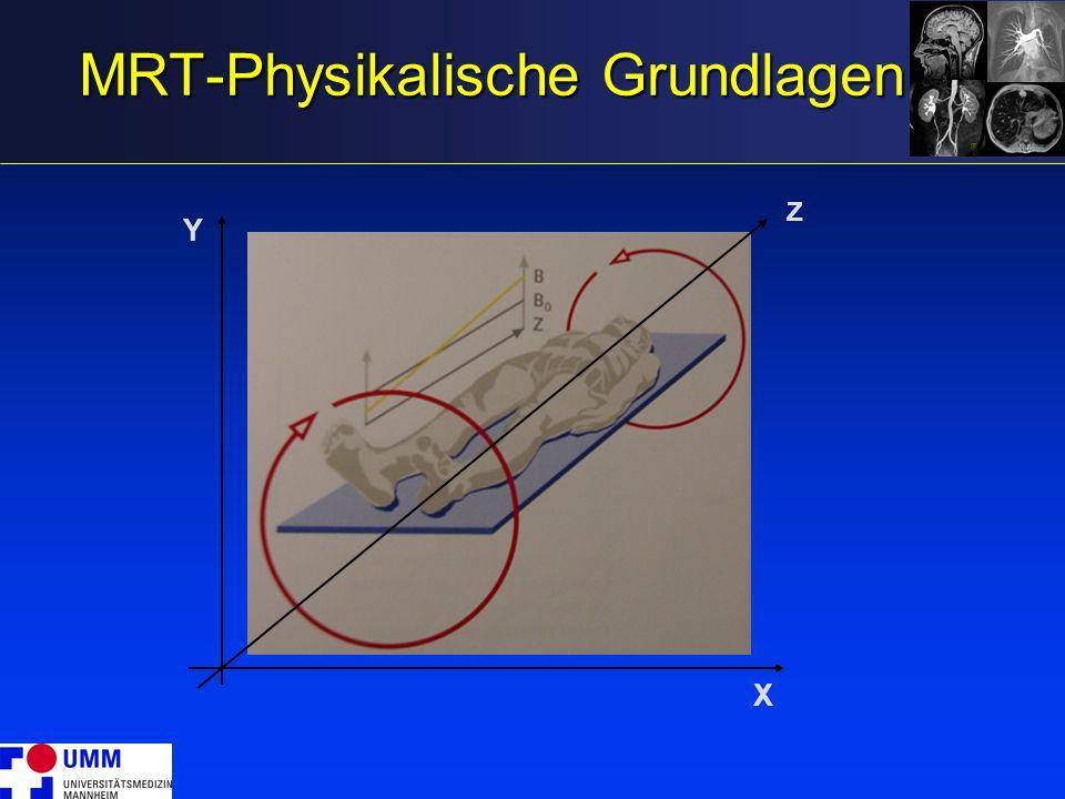 MRT-Physikalische Grundlagen Y X Z