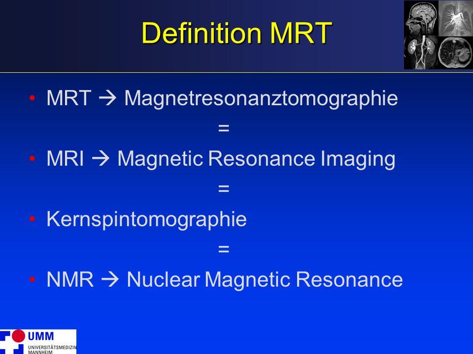 Ein Kernspinexperiment RF +++ B0B0 RF-Sende- Spule RF RF-Empfangs- Spule t FID: Freier Induktions-Zerfall