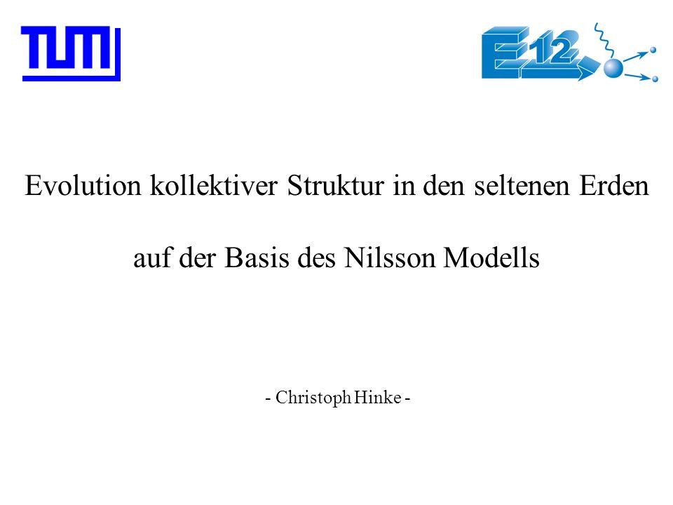 Das Nilsson Modell (3) Anisotropes H.O.