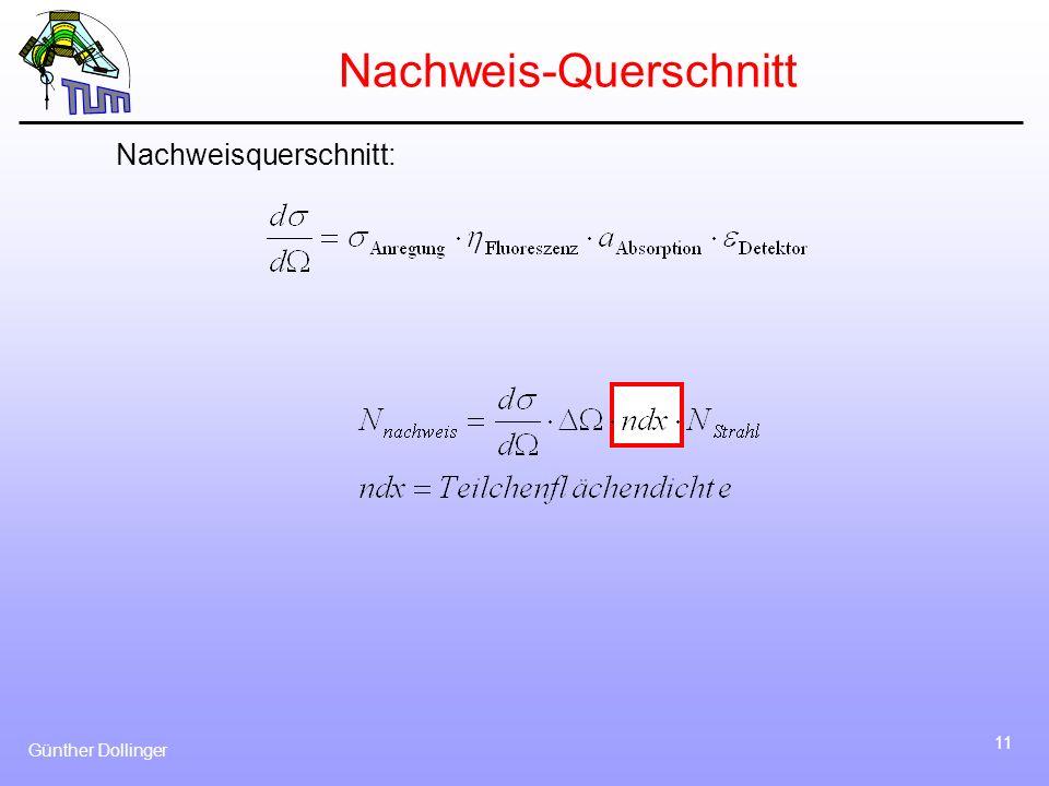 Günther Dollinger 11 Nachweis-Querschnitt Nachweisquerschnitt: