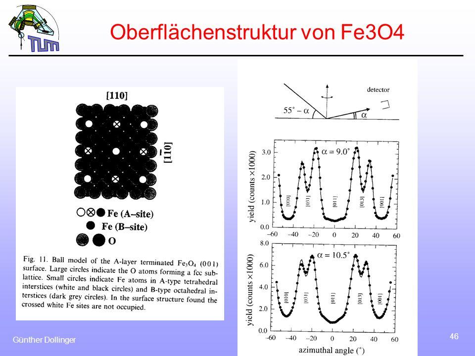 Günther Dollinger 46 Oberflächenstruktur von Fe3O4