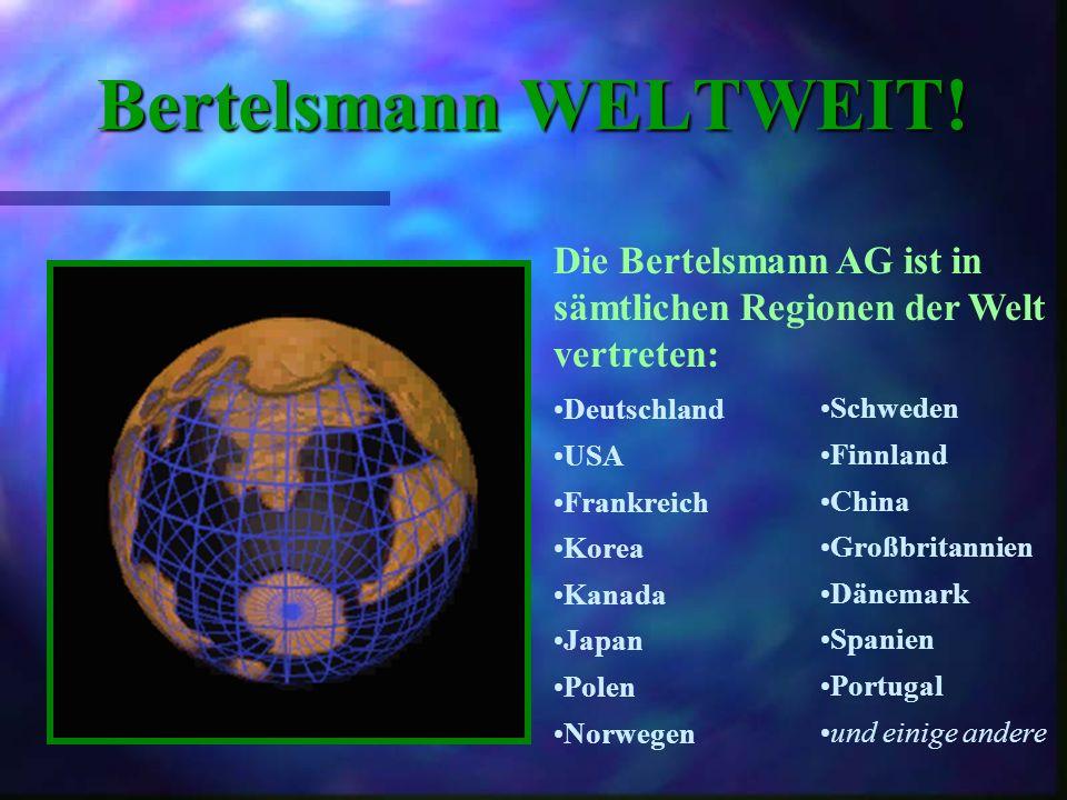 Niederlassungen Wo ist Bertelsmann angesiedelt?