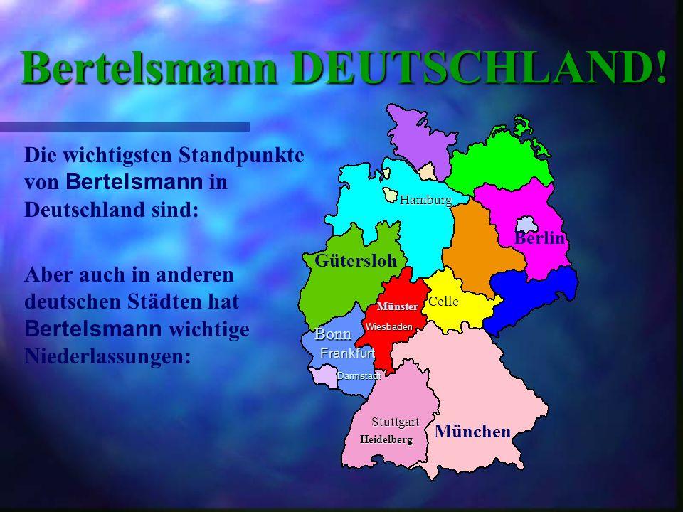 Bertelsmann WELTWEIT! Die Bertelsmann AG ist in sämtlichen Regionen der Welt vertreten: Deutschland USA Frankreich Korea Kanada Japan Polen Norwegen S
