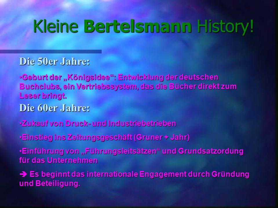 Kleine Bertelsmann History! Vorgeschichte: Im Jahre 1853 gründete Carl Bertelsmann im westfälischen Gütersloh eine Steindruckerei und einen volkstümli