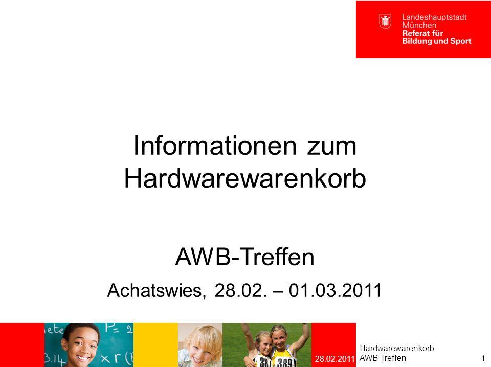 Agenda Künftige Rechnergeneration Künftige Notebook-Generation Interaktive Whiteboards Ausblick 2 Hardwarewarenkorb AWB-Treffen 28.02.2011