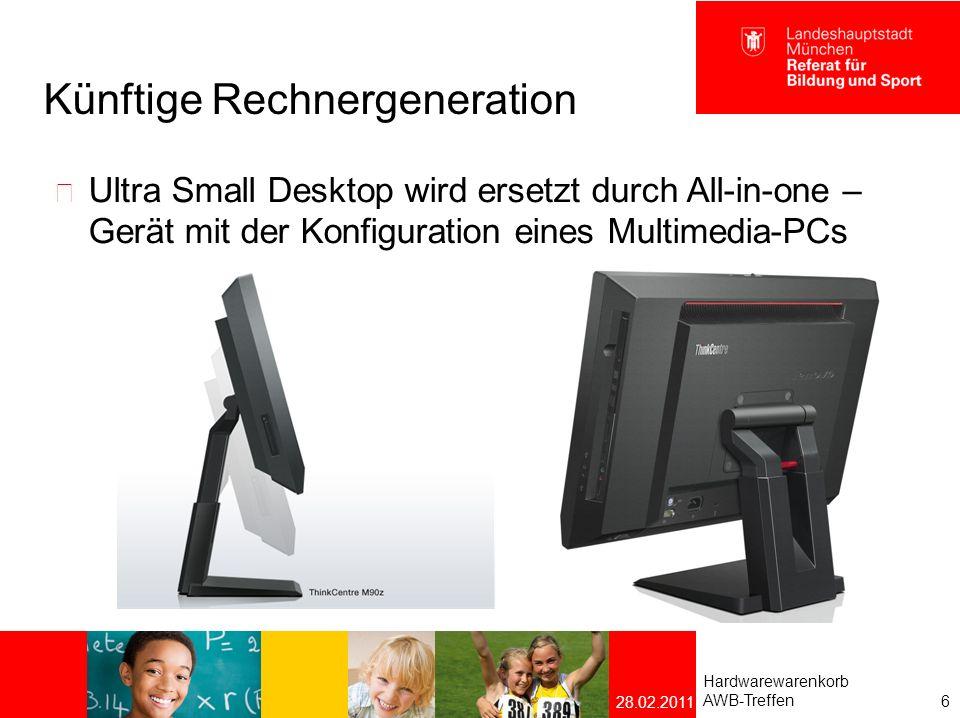 Künftige Notebook-Generation Subnotebook Lenovo ThinkPad X220  Intel Core i5 zweite Generation  4 GB RAM  250 GB Festplatte  Grafik Intel HD  WLAN  WWAN (Internetzugang über Mobilfunknetz)  12,5 Display mit WLAN und WWAN-Antennen Hardwarewarenkorb AWB-Treffen 7 28.02.2011