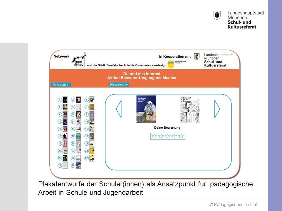 © Pädagogisches Institut Plakatentwürfe der Schüler(innen) als Ansatzpunkt für pädagogische Arbeit in Schule und Jugendarbeit