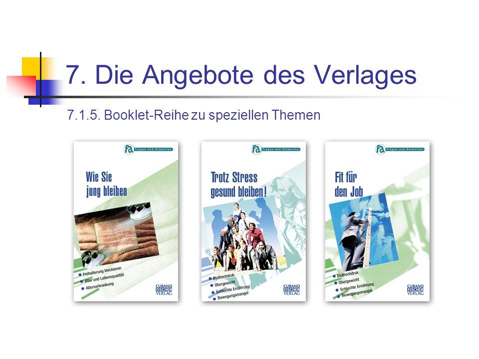 7. Die Angebote des Verlages 7.1.5. Booklet-Reihe zu speziellen Themen