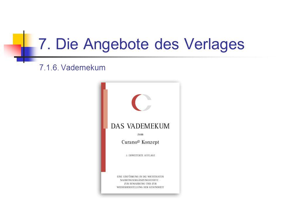 7. Die Angebote des Verlages 7.1.6. Vademekum