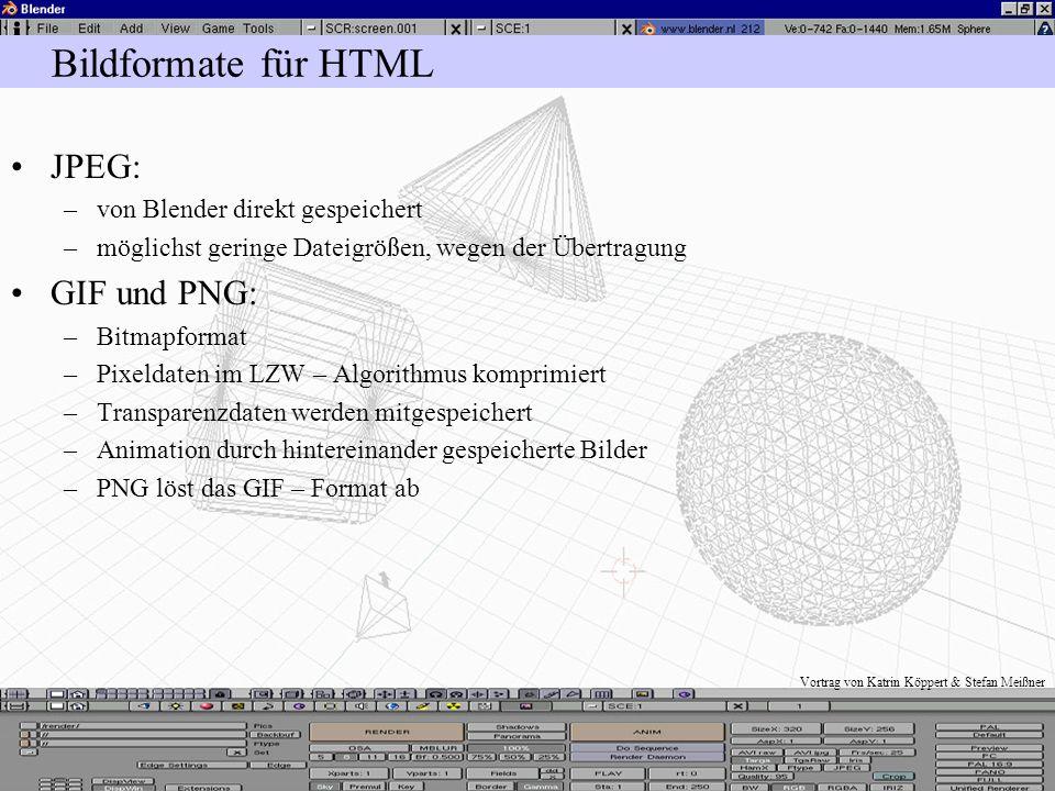 Vortrag von Katrin Köppert & Stefan Meißner weitere Einstellungen BW: –Umwandlung in 8 – Bit Graustufenbild –versucht Tiefeninformationen beizubehalte