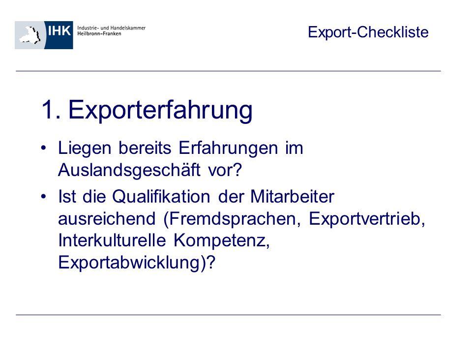 Export-Checkliste 2.