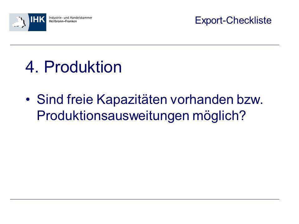 Export-Checkliste 5.
