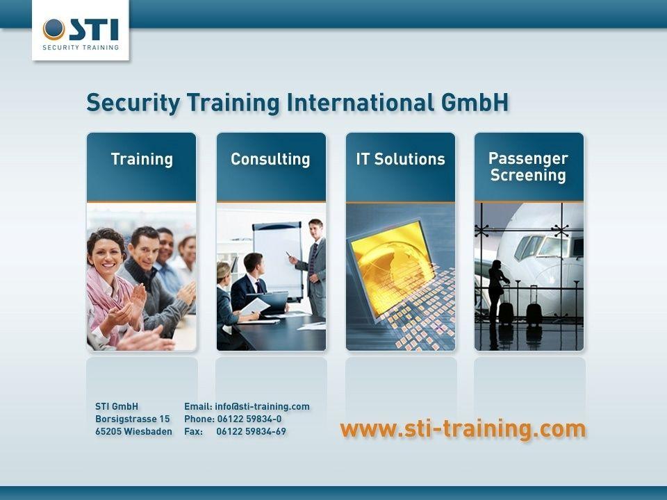 © STI GmbH 2011 38 Zertifizierungsverfahren