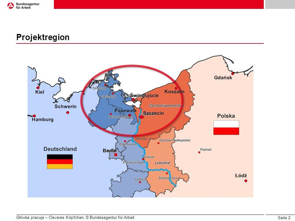 Seite 2 Główka pracuje – Cleveres Köpfchen, © Bundesagentur für Arbeit Projektregion