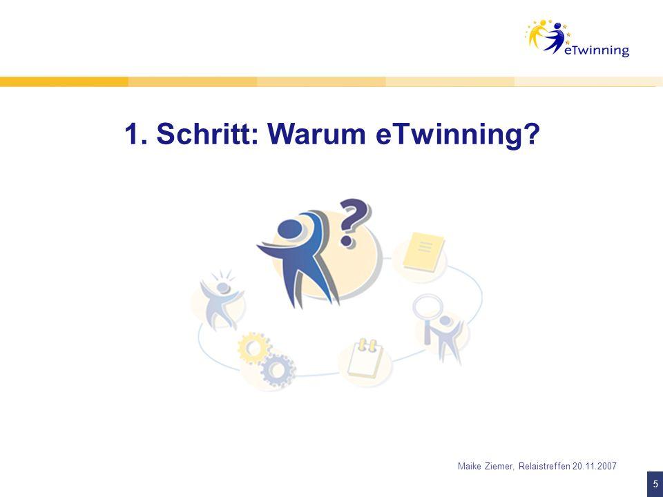16 Maike Ziemer, Relaistreffen 20.11.2007 Vorteile des TwinSpace In 22 europäischen Sprachen nutzbar einfach zu bedienen hohe Sicherheit unkomplizierte Ergebnispräsentation