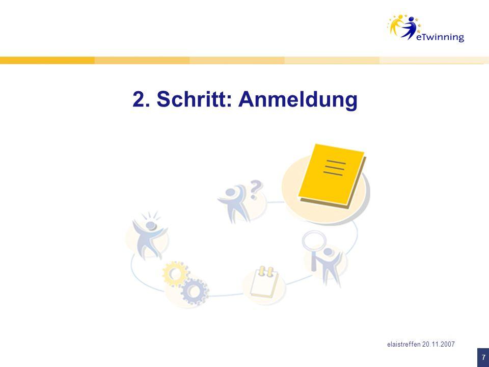 8 8 Maike Ziemer, Relaistreffen 20.11.2007 Einfach anmelden auf www.eTwinning.netwww.eTwinning.net