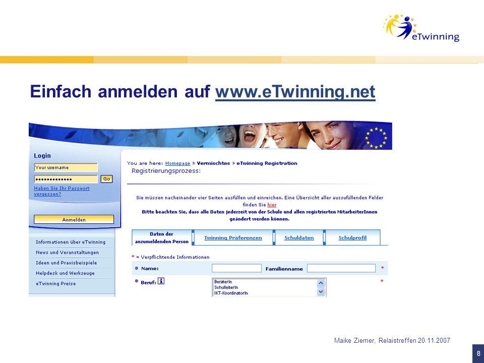 19 Maike Ziemer, Relaistreffen 20.11.2007 Die Nationale Koordinierungsstelle unterstützt Lehrkräfte 1.
