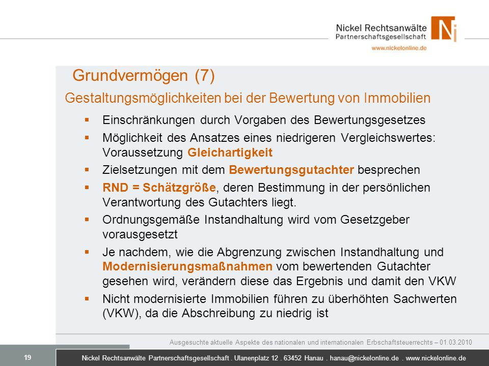 Nickel Rechtsanwälte Partnerschaftsgesellschaft.Ulanenplatz 12.