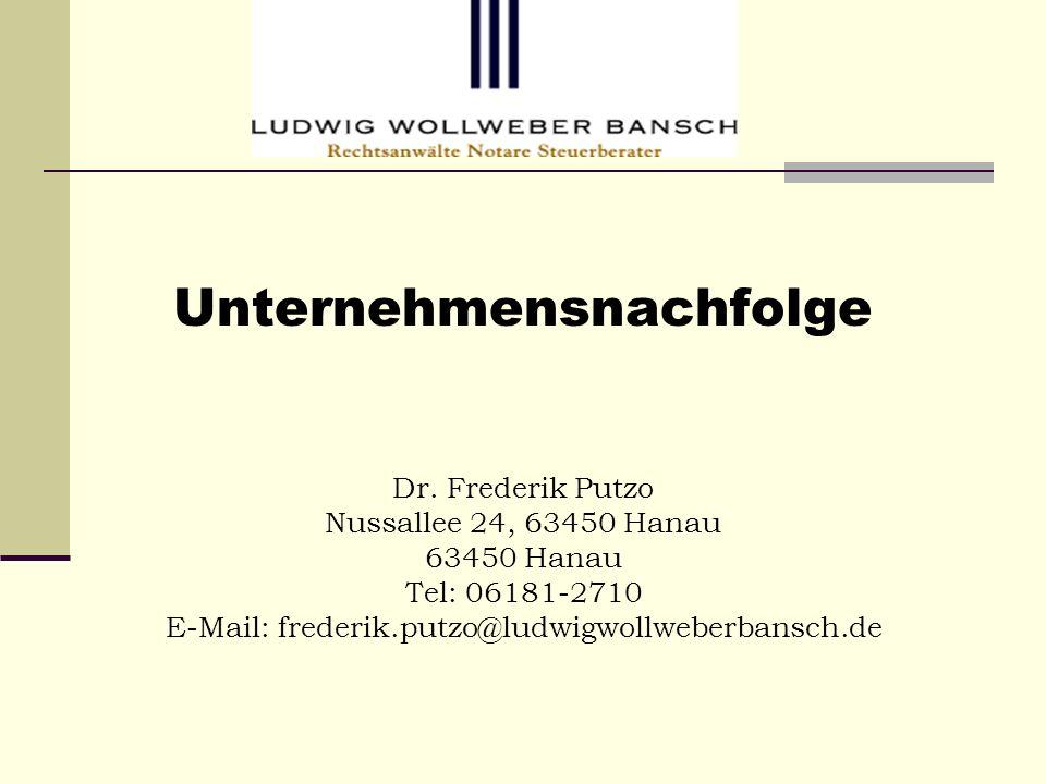 Nachfolge in Kommanditgesellschaft Der Kommanditanteil ist frei vererblich..
