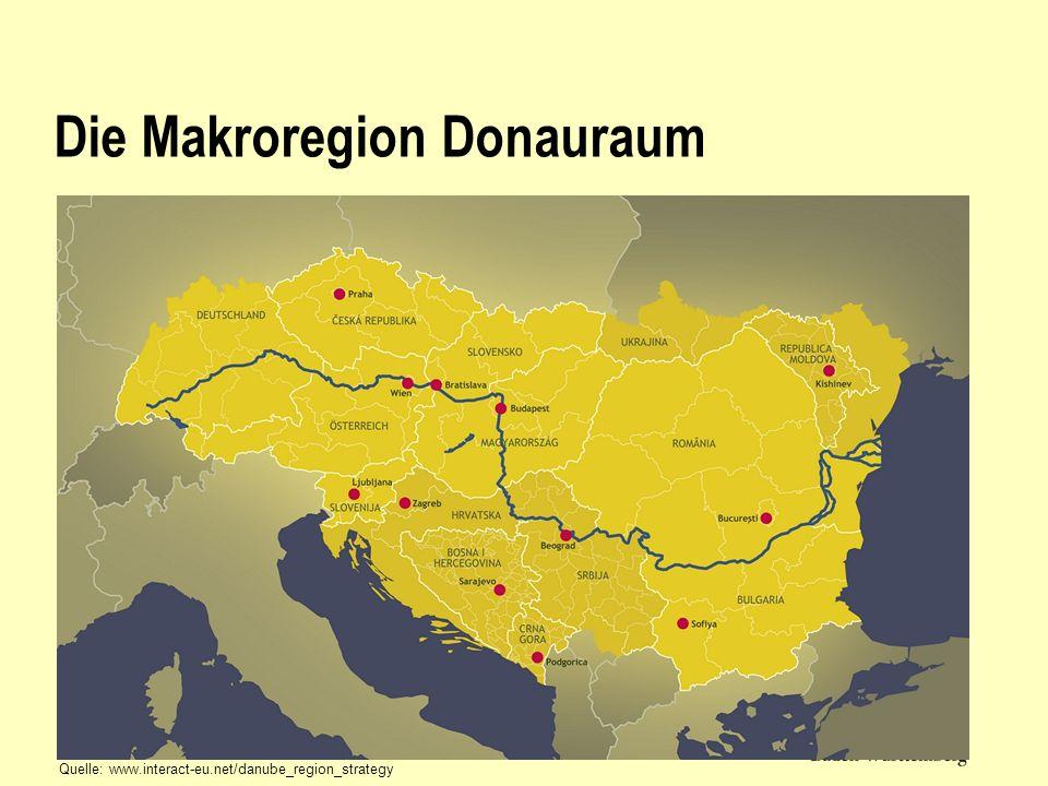 Die Makroregion Donauraum Quelle: www.interact-eu.net/danube_region_strategy
