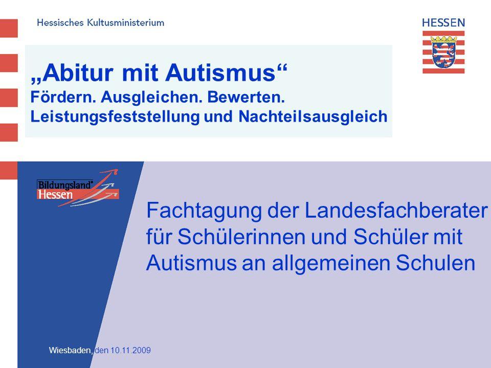 Abitur mit Autismus Fördern.Ausgleichen. Bewerten.