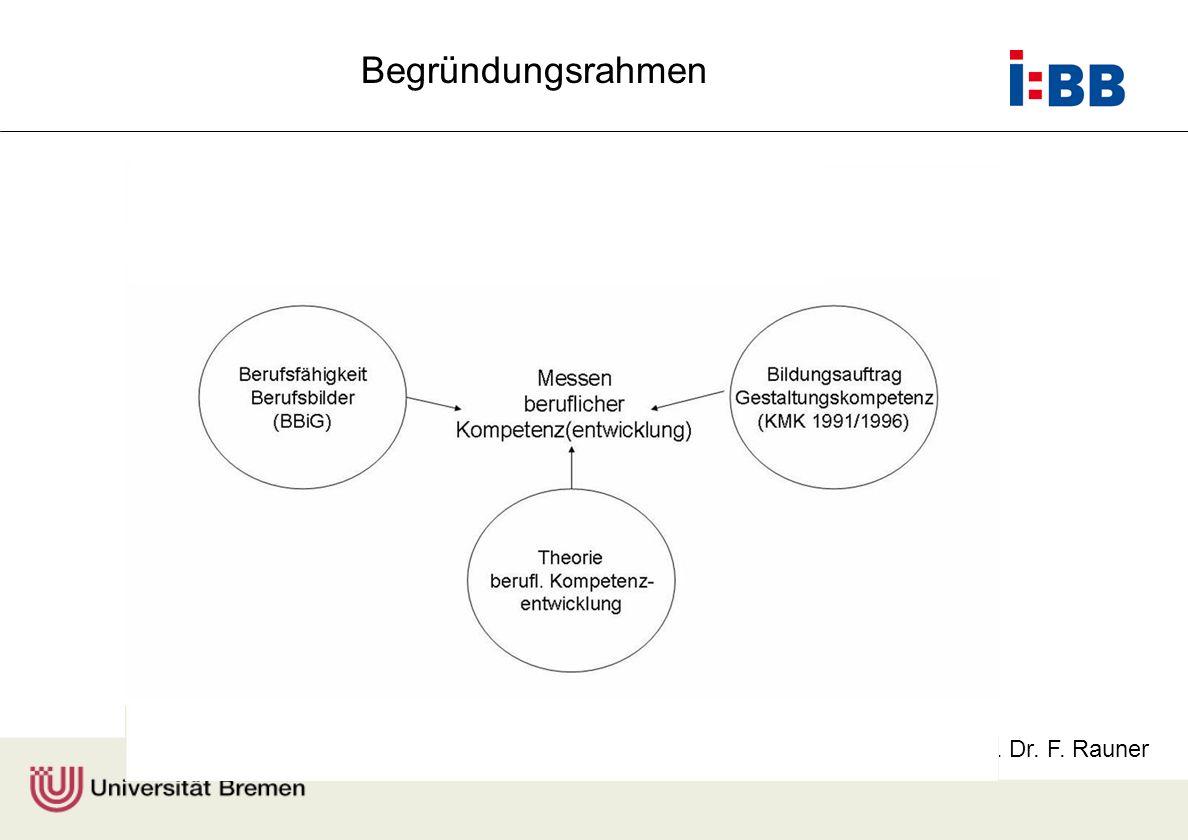 Prof. Dr. F. Rauner Begründungsrahmen